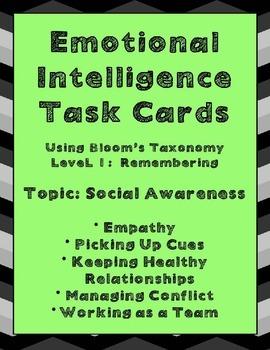 Emotional Intelligence Task Cards Using Bloom's Taxonomy: Social Awareness