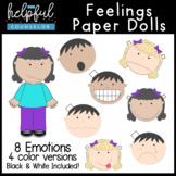 Feelings Activity: Paper Dolls