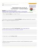 Psychology: Emotional Intelligence/Good Samaritan Critical
