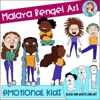 Emotional Kids Clip Art