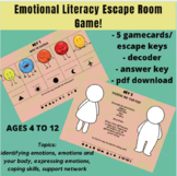 Emotional Literacy Escape Room Game Ages 4 to 12