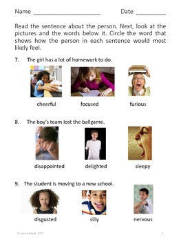 Emotional Literacy Skills for Older Children: Emotions & Feelings Activity Pack