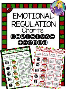 Emotional Regulation Charts: Christmas Themed
