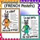 """Emotional Regulation Posters """"Les zones de régularisation"""""""