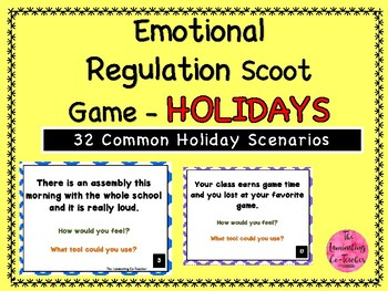 Emotional Regulation Scoot Game - Holiday's Edition