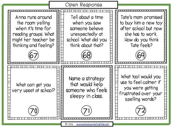 Emotional Regulation Task Cards by School Counseling Files