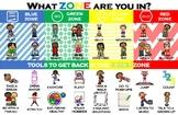 Emotional Regulation Zones Poster