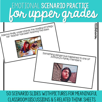Emotional Scenarios for Upper Grades   SEL Digital Slides