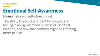 Emotional Self-Awareness Lesson, Notes, and Handouts