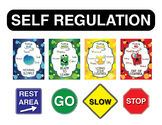 Emotional Self Regulation Signs and Posters - Little Monster Theme