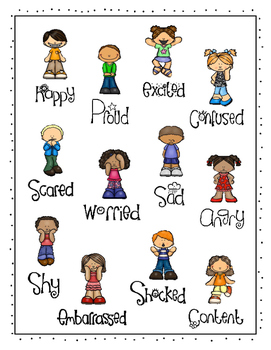 """Emotional Skills Game:  """"I Have, Who Has?"""" Feelings"""