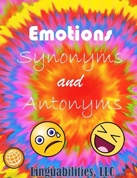 Emotional Synonyms and Antonyms
