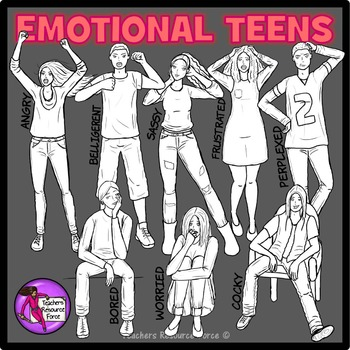 Emotional Teens Clip Art - ♛ PREMIER ILLUSTRATIONS ♛ clipart
