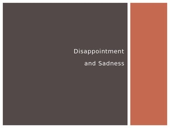 Emotional Vocabulary: Disappointment and Sadness