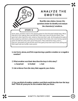 Emotional Vocabulary - Speech Therapy Social Skills for Older Students