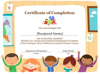 Emotional and Social Development of Children (Module 4)