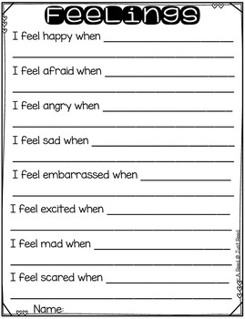 Emotions:  A Craft and Discussion Activity