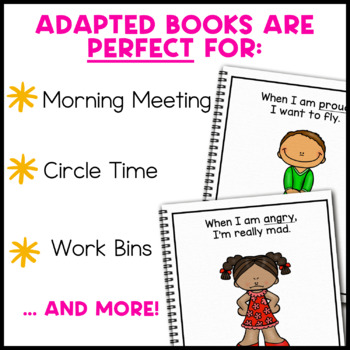 However I Feel, a book about emotions: Adapted Book for Special Education