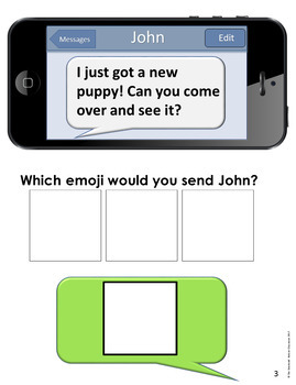 Emotions Adapted Book and Task Cards Emojis BUNDLE for Special Education