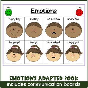Emotions Adapted Book for Special Needs