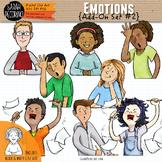 Emotions Clip Art: Add-On Set #2