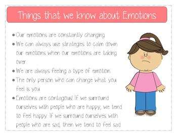 Emotions Anchor Chart