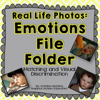Emotions Autism File Folder