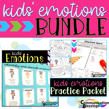 Emotions BUNDLE: Descriptions, Body Language, and Practice Packet