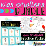 Feelings and Emotions Definitions, Body Language, and Practice Packet BUNDLE