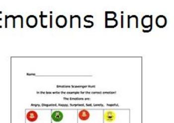 Emotions Bingo
