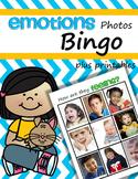 Emotions Bingo Activity using Photos plus Printables Preschool