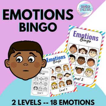 Emotions Bingo | Color & Black and White