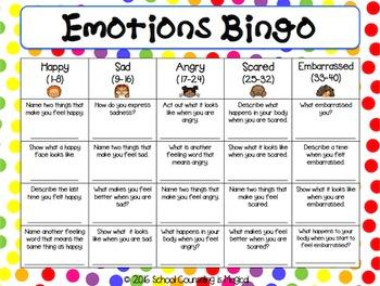 Emotions Bingo Freebie
