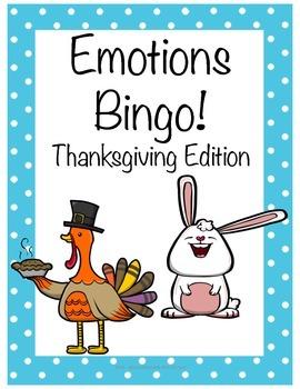 Emotions Bingo - Thanksgiving Edition