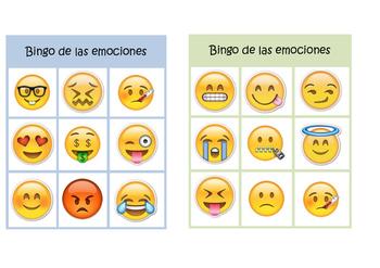 Emotions Bingo in Spanish