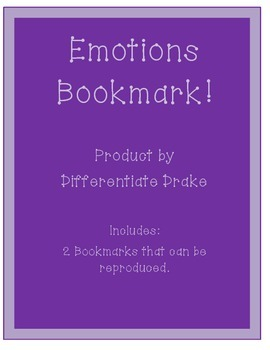 Emotions Bookmark