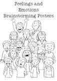 Feelings and Emotions Brainstorming Posters - Show, don't tell!