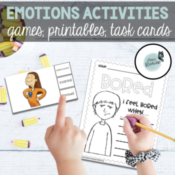 Emotions Bundle: Games, Worksheets, Visuals and More!