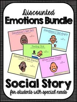 Emotions Bundle- Social Stories for Student's with Special Needs