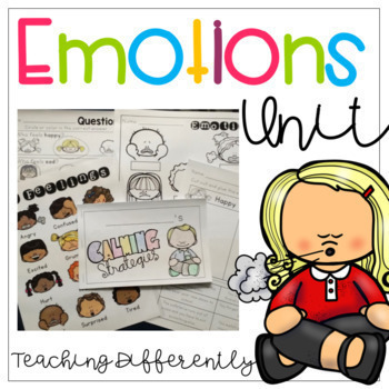 Emotions Bundle {Thematic Unit, Social Story, & Visuals}