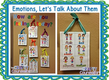 Emotions Bundle (foldables,workbooks,worksheets, discussion tools)