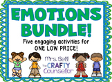 Emotions Bundle (foldables,workbooks,worksheets, discussion tools)