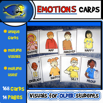 Emotions Cards Visual Resource (14 Pages, 168 Cards!)