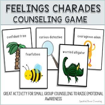 The Special Education Charade >> Counseling Game Feelings Charades By Speckled Moose Counseling Tpt