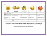 Emotions Chart with Coping Strategies