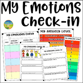 Emotions Check In for Social Emotional Learning - SEL Digital & Print