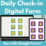 Emotions Check In Digital Form | Distance Learning Check In