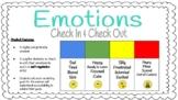Emotions Check in: Self-Regulation (Zones of Regulation inspired)-Digital/Print