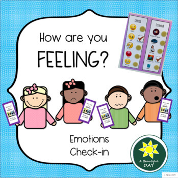 Emotions Check-in: visual resource to identify feelings & learn self-regulation