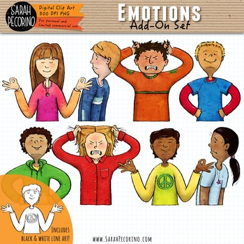Emotions Clip Art: Add-On Set